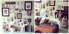 Love @naturesmyfriend's #inspirationwall #workspace.