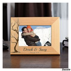 Love Birds Custom Wood Picture Frame x Photo Frame Personalized Custom Romantic Gift Personali - DRONİX Wedding Picture Frames, Wooden Picture Frames, Picture On Wood, Personalized Graduation Gifts, Personalized Note Cards, Custom Photo Frames, Birthday Photo Frame, Best Valentine's Day Gifts, Great Valentines Day Gifts