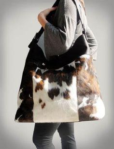 Henig Furs cowhide tote on sale for $599.00!