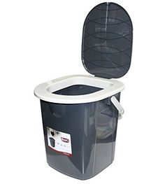 Small portable toilet bucket 22 L made of durable plastic Easy to clean, it has got profile seat Removable lid stops the smell