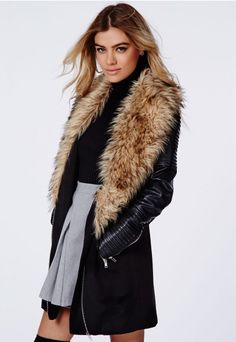 Gracia Faux Fur Collar Khaki Parka / Coat. | Clothes | Pinterest