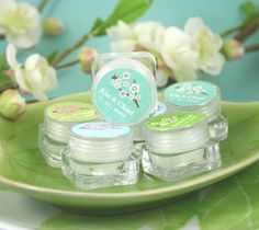 Cherry Blossom Lip Balm Favors | #asian #theme #wedding #favors