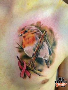robin tattoo | Mark Bester - robin bird colour realism Tattoo | Big Tattoo Planet