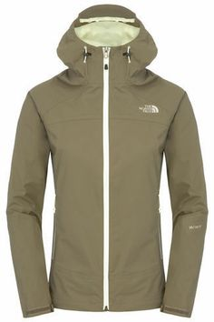 New The North Face Women's Stratos Waterproof Jacket, Brown