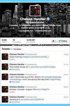 11 Celebrities to Follow on Twitter: Chelsea Handler.