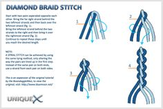 Diamond Braid Paracord | Download the tutorial image (right-click the hyperlink and select Save ...