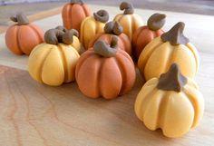 Fall Pumpkins  qty 12 Fondant fall decoration by SugarAndStripesCo, $18.00
