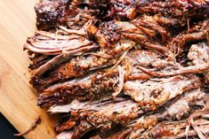 Easy Barbecue Beef Brisket a mouthwatering brisket is rubbed with spices & liquid smoke. Cooked in a slow cooker until tender & juicy; served and devoured.