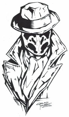 """M.I.A Rorshach""  by ~KidNotorious -   Fan Art / Cartoons & Comics / Traditional / Miscellaneous"