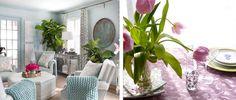 Яркие проекты весеннего интерьера: Цветы