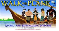 *Many Middle School Math Games - Example: Walk the Plank - Adding Subtracting Integers* Math Teacher, Math Classroom, Teaching Math, Math Games For Kids, Fun Math, Kids Math, Algebra Games, Adding And Subtracting Integers, 7th Grade Math