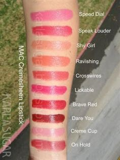 Mac Cremesheen Lipstick Swatches