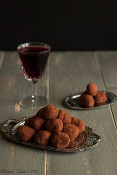 Dark Chocolate + Red Wine truffles - scroll for English