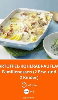 Kartoffel-Kohlrabi-Auflauf - Familienessen (2 Erw. und 2 Kinder) - smarter - Kalorien: 441 Kcal - Zeit: 40 Min.   eatsmarter.de