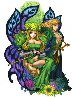 Fairy Queen & Melvin - Odin Sphere Concept Art