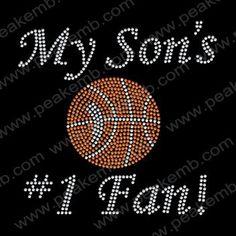 My Sons Firt Fan Of Basketball Rhinestone Heat Transfer Applique Wholesale 30pc/lot