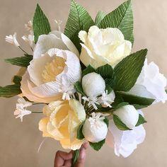 Anniversary Bouquet #whiteflowers #anniversary #roses #peonies