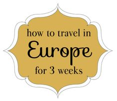 Great tips on planning a trip in general! The most important in my opinion? 1)Pack light 2)Carry Cash 3)Attempt to Speak the Language