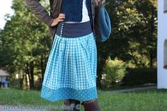 Als ich die Röcke der Rockmacherin das erstmal sah war ich hellauf begeistert. Eine moderne Form von Tracht und wie wunderschön. Als Nähner... Costume Patterns, Girls Dresses, Summer Dresses, Textiles, Girl Fashion, Womens Fashion, Couture, Sewing Tutorials, Diy Clothes