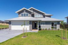 With Linea Weatherboard your home can have all the distinctive features and charm of weatherboard, low maintenance, premium fibre cement. Traditional Home Exteriors, Traditional House, James Hardie, Cladding, Shed, Villa, New Homes, House Design, Outdoor Structures