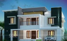 Sanjorjo model is a 3 bedroom one storey house design with roof deck – Amazing Architecture Magazine Bungalow House Design, House Front Design, Modern House Design, Deck Design, Double Storey House Plans, One Storey House, Residential Architecture, Online Architecture, Amazing Architecture