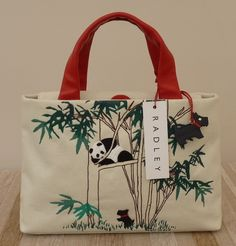 The Radley Panda bag is one for the collectors Panda is not a limited edition, nor a signature bag, but nonetheless two beautiful Radley picture grab bags. These canvas bags feature a beautiful embroidered Panda in a bamboo tree.  A leather Radley dog is sitting at the base of the tree.  The Radley …