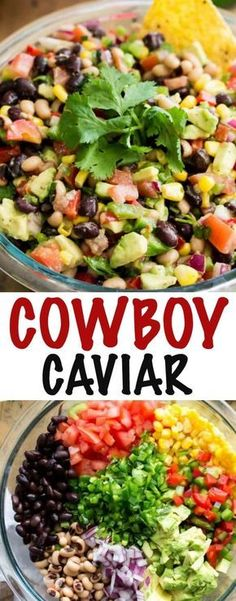 Cowboy Caviar A fresh, simple dip that can be thrown together in under 15 minutes! This Cowboy Caviar makes a great side dish for any picnic, potluck, or party, and is a great way to use up your summer produce! Appetizer Dips, Appetizer Recipes, Salad Recipes, Snacks Für Party, Appetizers For Party, Picnic Snacks, Appetizers For New Years, Summer Party Foods, Party Games