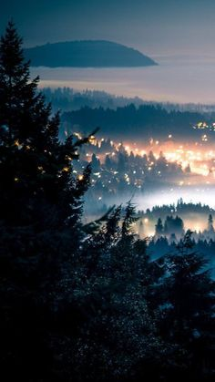Foggy Night, Seattle, Washington photo via aliface Oh The Places You'll Go, Places To Travel, Beautiful World, Beautiful Places, Evergreen State, Photos Voyages, Adventure Is Out There, Pacific Northwest, The Great Outdoors