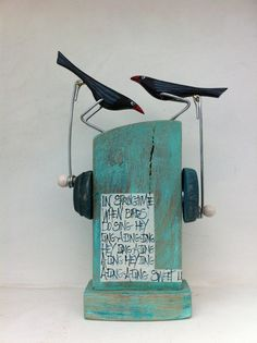 Small double pecking birds by OPISHOP on Etsy, £36.00