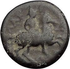 LARISSA in THESSALY 300BC Nymph Horseman Authentic Ancient Greek Coin i56253 https://trustedmedievalcoins.wordpress.com/2016/06/30/larissa-in-thessaly-300bc-nymph-horseman-authentic-ancient-greek-coin-i56253/