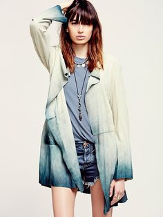 Free People Distressed Leather Blazer at Free People Clothing Boutique