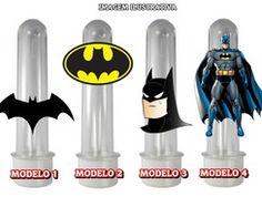 Tubete com Aplique Batman