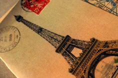 Eiffel tower journal. vintage style journal. by GuBoArtBook, $3.00
