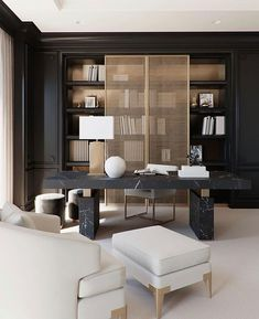 Modern Office Design, Office Interior Design, Home Office Decor, Office Interiors, Office Designs, Interior S, Executive Room, Diy Décoration, Cabinet Design