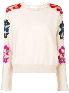 Compre Chloé Suéter bordado floral.