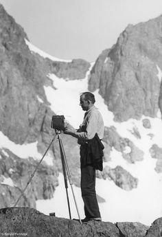 Ansel Adams (1902-1984) American photographer and environmentalist. His black-and-white landscape photographs of the American West, especially Yosemite National Park, have been widely reproduced. He developed 'previsualisation' and the 'Zone' system to ensure exposure at specific densities in B&W outdoor photography