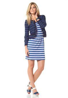 Chillytime Jerseykleid im Online Shop von Ackermann Versand #Mode #Fashion Shops, Sea, Dresses, Fashion, Fashion Styles, Stripes, Curve Dresses, Vestidos, Moda