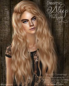 Stealthic 'Sleepwalking' ages, compressed, familified, binned, custom grey for elder. in 16 natural colors (pooklet & mine). Please consider this is a hi-poly hair > 20 k. I have difficulties to adjust the position of this hair for sims Ugly Hair, Side Cuts, Sims 2, Being Ugly, Cool Hairstyles, Natural Hair Styles, Hair Cuts, Poses, Natural Colors