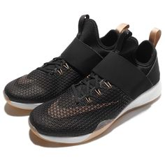 8ff004ae7e7ece Wmns Nike Air Zoom Strong Black Bronze Strap Women Training Shoes 843975-003
