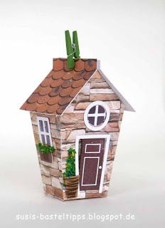 "vernal English Cottage with Stampin 'Up! Framelits ""At home"""