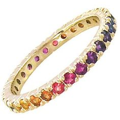 multi color stone eternity ring