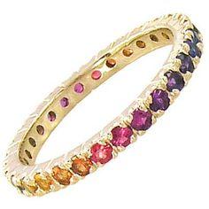 multi color stone eternity ring