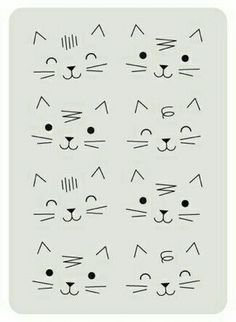 Drawing Tips Cats Cat Doodle, Doodle Drawings, Easy Drawings, Doodle Art, Cat Drawing, Drawing For Kids, Drawing Tips, Kritzelei Tattoo, Animal Doodles