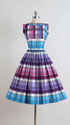 Pique-Nique . vintage 1950s dress . vintage by millstreetvintage