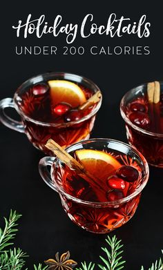 9 Holiday Cocktails Under 200 Calories