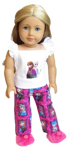 "American Girl EMILY/'S PAJAMAS for 18/"" Dolls Historical PJ/'S Flannel Retired NEW"