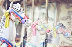 Carousel horses.