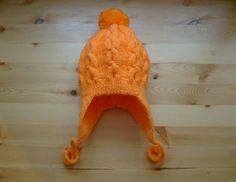 Knit - Baby Knitted Cap earflaps with pom pom - ear flap - Of Wool For Girls - 4-6 months. https://www.etsy.com/ru/listing/217696416/vazanie-dla-detej-vazanaa-apoka-dla?langid_override=0