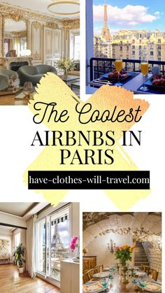 Trying to decide where to stay in Paris, France? This is the complete guide to the BEST Airbnbs in Paris with Eiffel Tower Views and more - from luxury villas to charming studio apartments. These are a must add for any Paris itinerary! | paris travel tips |