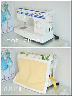 Make an easy, no sew cover for your sewing machine.